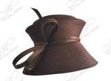 Tiffany Brim With 2-Tier Crown Hat - 4 Colors