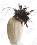 Mr. Song Millinery Kentucky Derby Fascinator - Brown