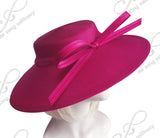 Royal Ascot Hat Hascinator With Knotted Loop Bow - DH228 Pink