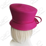 own Cloche Hat With Custome Knotted Loop Bow - ST45 Fuchsia Pink