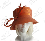 Medium Tiffany Brim Hat With Multi-Loop Knot Bow