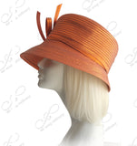 Medium Tiffany Brim Hat With Multi-Loop Knot Bow - 2 Colors