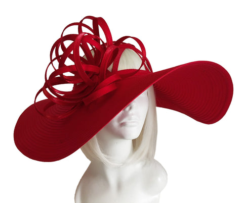Royal Ascot Lattice Crown Hat with Ribbon Accent
