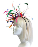 Feather Fascinator Headpiece - Multicolor