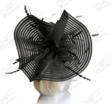 All-Season Crin Fascinator With Signature Accents - 2 Colors