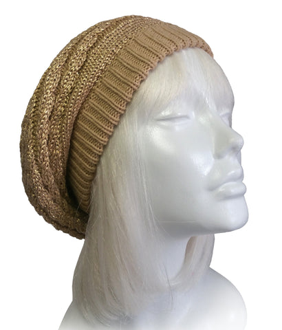 Slouchy Knitted Beret Beanie - 2 Colors