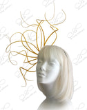 Meduse Amuse Grande Fascinator - Yellow