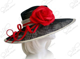 Kentucky Derby Hat - Sinamay Hat With Flower Accent