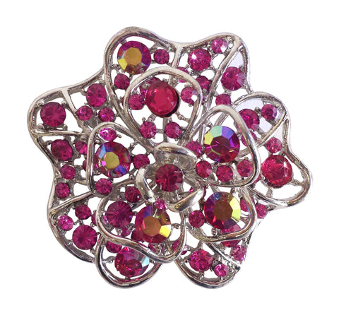 Crystal Rhinestone Brooch Pin - 2 Colors