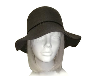 Mr. Song Millinery Floppy Brim Felt Hat - Gray