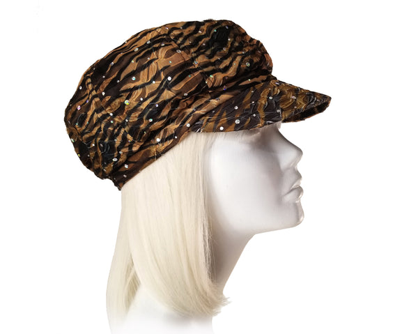 Mr. Song Millinery Newsboy Glitter Cap - 2 Colors