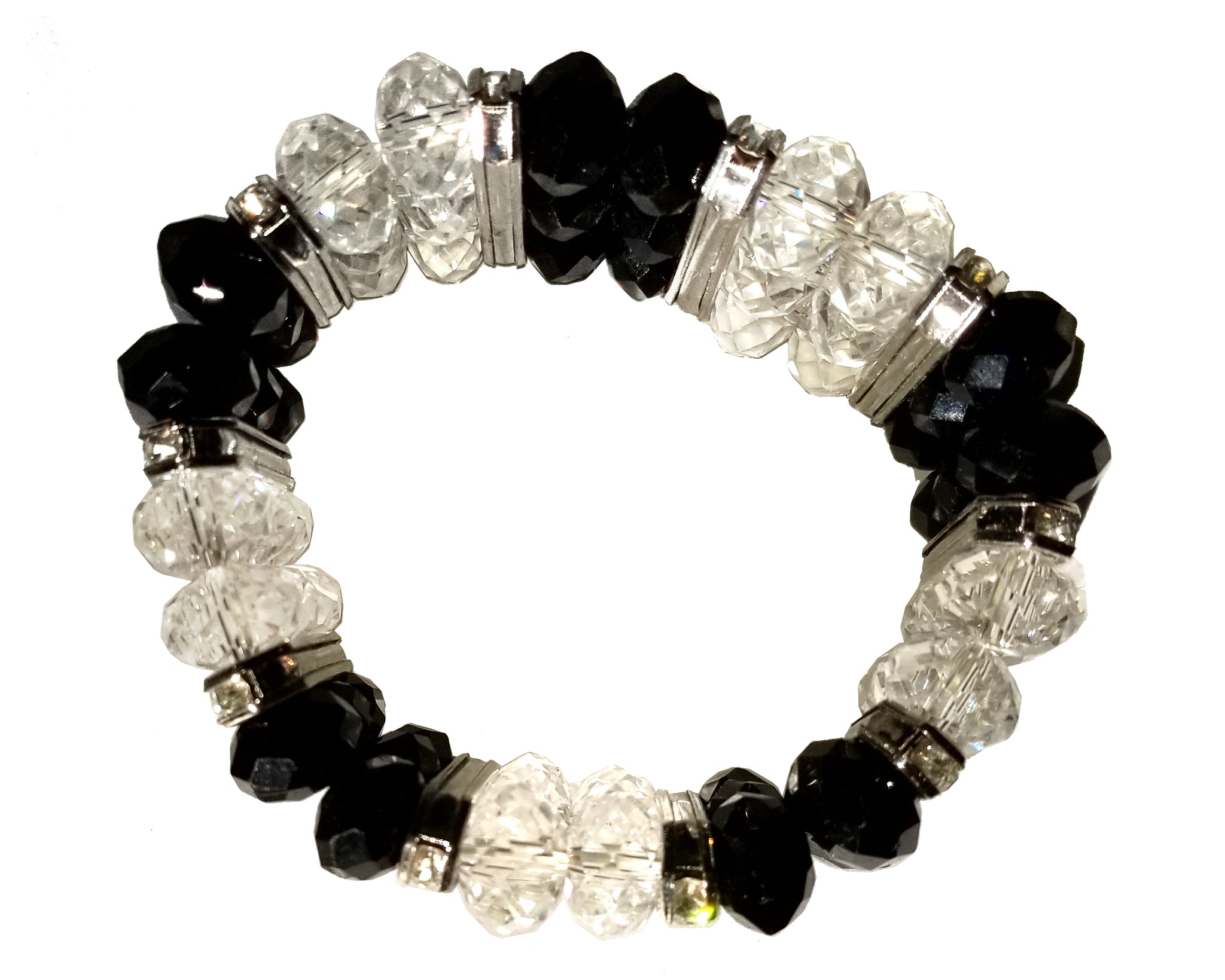 Mr. Song Millinery Layered Bracelet Bangle - Jet/Crystal