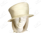 Satin-Crin Slant Crown Small Brim Hat Body - Assorted Colors