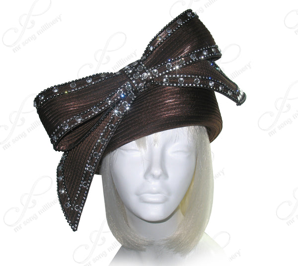 Mr. Song Millinery Authentic President Obama's Inauguration Ceremony Bow Hat Inaugural II