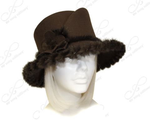Soft-As-Cashmere Felt Hat with Medium Width Brim - 2 Colors