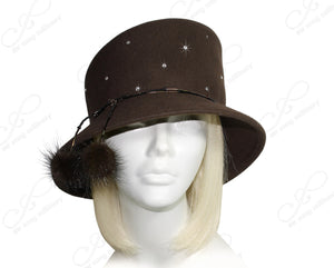 Mr. Song Millinery Soft-As-Cashmere Felt Bucket Cloche Hat - 2 Colors