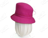 Luxuriously Soft Felt Cloche Hat With Brim - Assorted Colors
