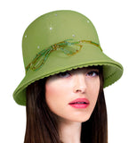 Soft-As-Cashmere Felt Bell Cloche Hat - 4 Colors