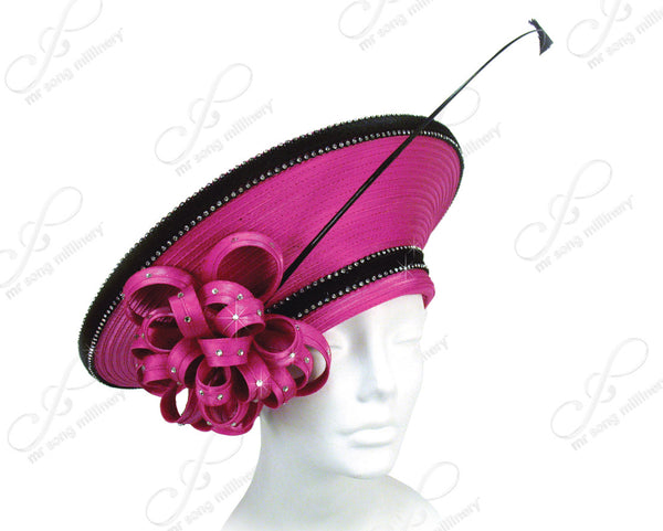 Mr. Song Millinery Satin-Crin Ribbon Large Berert Hat Body - Assorted Colors