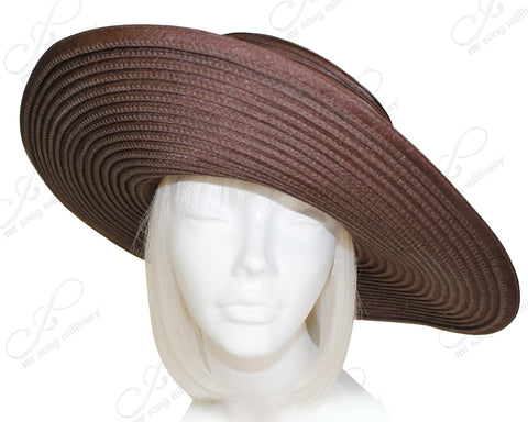 Satin-Crin 3-Tier Wide Brim Hat Body - Assorted Colors