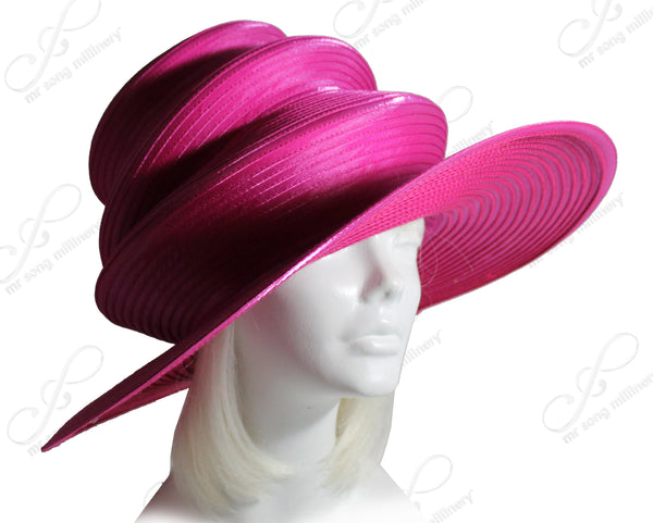 Mr. Song Millinery Satin-Crin 3-Tier Wide Brim Hat Body - Assorted Colors