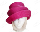 Satin-Crin 2-Tier Crown Tiffany Brim Hat Body - Assorted Colors