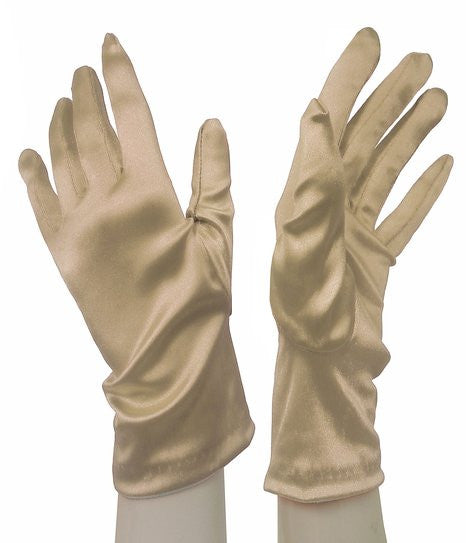 Mr. Song Millinery Satin Stretch Wrist-Length Gloves