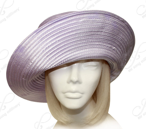 Mr. Song Millinery All-Season Satin-Crin Turned UP Brim Hat Body - Assorted Colors