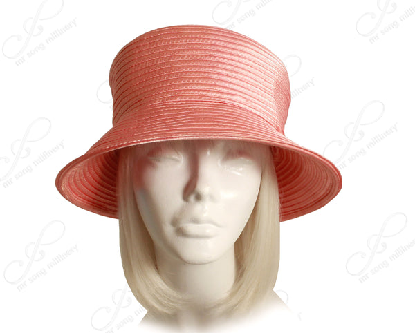 Mr. Song Millinery All-Season Satin-Crin Tiffany Brim Hat Body - 3 Colors