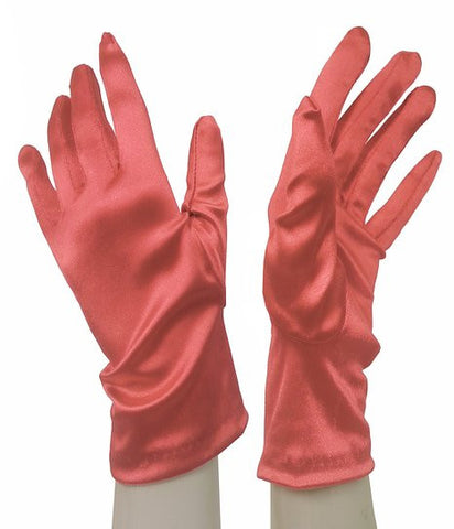 Satin Stretch Wrist-Length Gloves