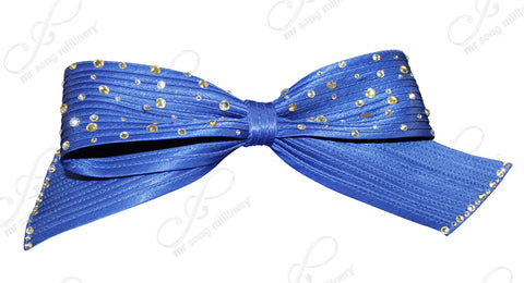 Satin-Crin Rhinestone Knot Bow - Assorted Colors