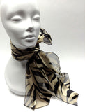 Satin Panel Scarf - Assorted Colors