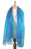 Long Sheer Elegant Chiffon Scarf Wrap - Solid Color - Assorted Colors