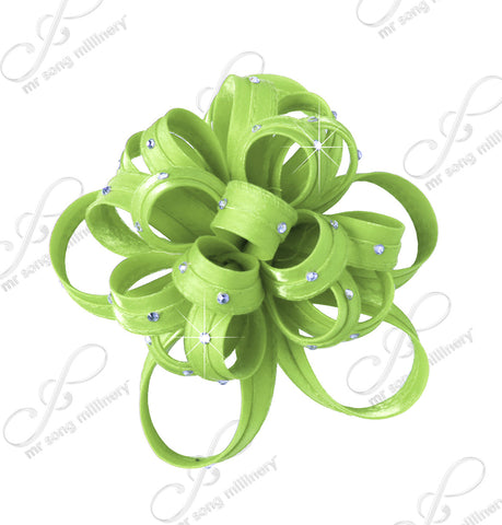 Satin Flower Corsage Brooch Pin - 12 Colors