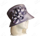 MediumTiffany Brim Hat Brim With Floral Accent - Lavender