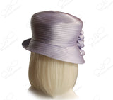 Medium Lampshade Brim Hat Brim With Floral Accent - Lavender