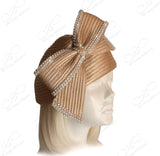 Beret Cloche Hat With Signature Bow Accent - 2 Colors