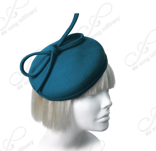 Mr. Song Millinery Soft-As-Cashmere Felt Beanie Fascinator - 2 Colors