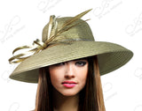 Round Crown Medium Tiffany Brim Hat - 4 Colors