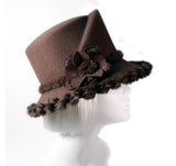 Soft-As-Cashmere Felt Hat with Medium Width Brim