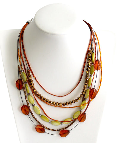 Polished + Jewel-Cut Multi-Layer Mulit-Shape Necklace - 3 Colors