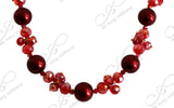 Red Necklace Earings Set