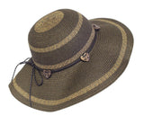 Wide-Brim Straw Summer Floppy Hat