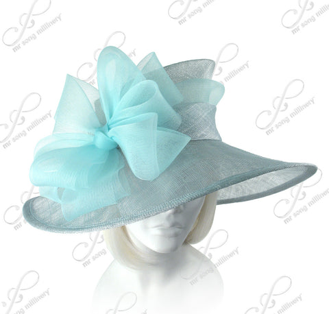 Royal Ascot Sinamay Hat with Crin Bow Accent