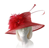 Royal Ascot Hat With Signature Feather Accents