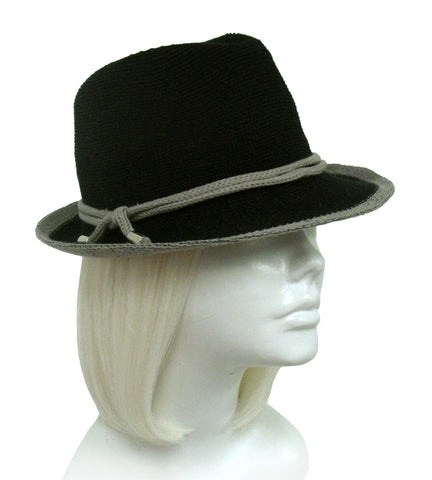 Knit Fedora - Knot Accent