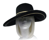Stras Summer Floppy Sun Hat Wide Brim - BLACK