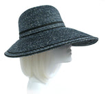 Stras Summer Floppy Sun Hat Wide Brim - BLUE