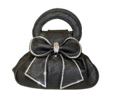 Andreas Baquette Rhinestone Bow Hand Bag Purse - 3 Colors