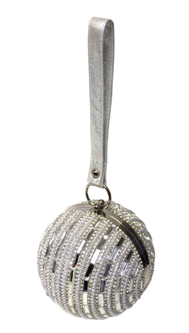 Rhinestone Globe Clutch Purse - 2 Colors